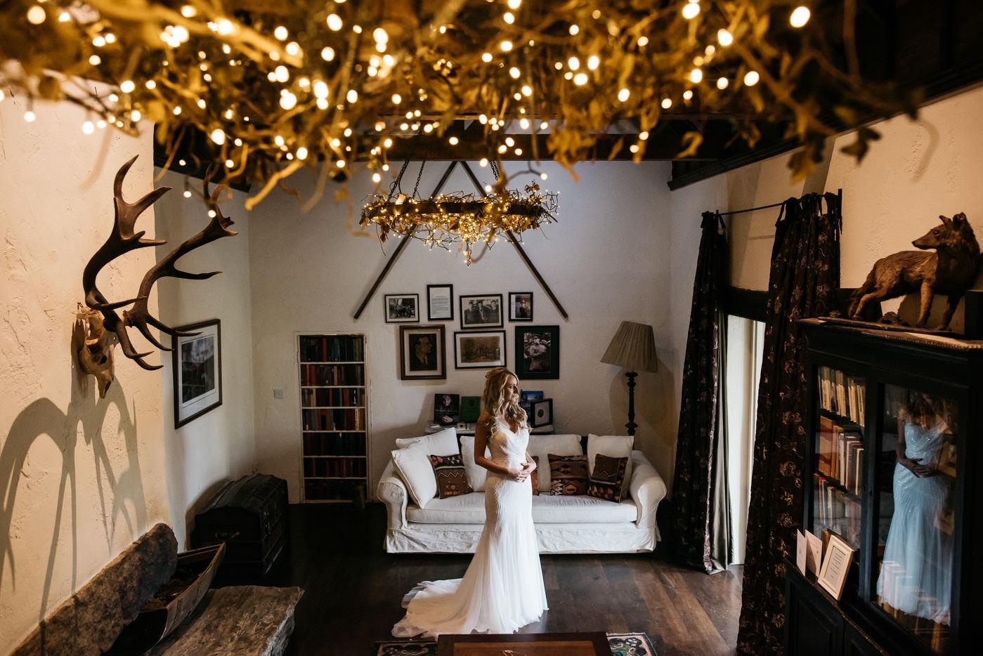Wedding dress at Ballybeg House wedding