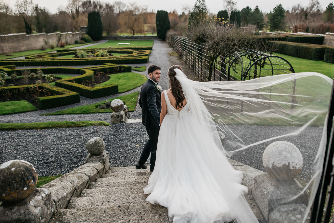 Wedding dress at Kilkea Castle